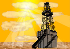 Natural gas drilling Stock Image