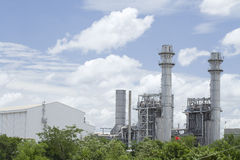 Natural gas factory Stock Image