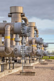 Natural gas field. Modern natural gas plant in the Netherlands stock photos