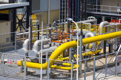Natural gas final filter station Royalty Free Stock Photo