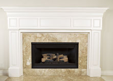 Natural Gas Fireplace Royalty Free Stock Photos