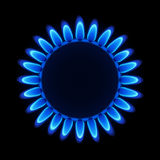 Natural gas flame. Vector illustration of a natural gas flame on a hob Royalty Free Stock Photo