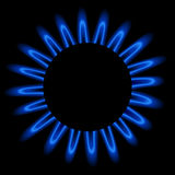 Natural gas flame. Realistic vector illustration Royalty Free Stock Photos