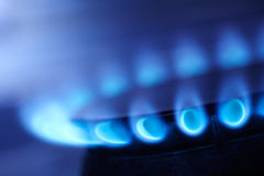 Natural gas flame Royalty Free Stock Images