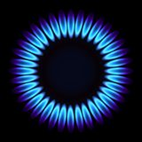 Natural gas flame. Vector illustration Stock Photos
