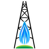 Natural Gas Fracking Icon Stock Images