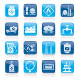 Natural gas fuel and energy industry icons Royalty Free Stock Photography