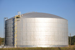 Natural Gas Holding Silo Royalty Free Stock Image