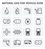 Natural gas icon Stock Image