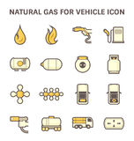 Natural gas icon Royalty Free Stock Images