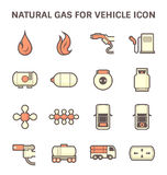Natural gas icon Royalty Free Stock Photos