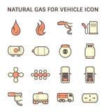 Natural gas icon Royalty Free Stock Photos