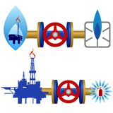 Natural gas industry Royalty Free Stock Image