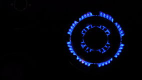 Natural gas inflammation stock video
