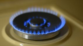 Ignition of natural gas stock video footage