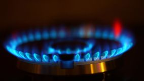 Natural gas inflammation stock footage