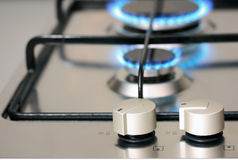 Natural gas kitchen Appliance Royalty Free Stock Images