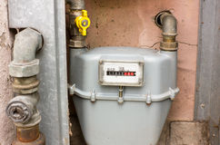 Natural gas meter Royalty Free Stock Image