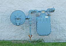 Natural gas meter Royalty Free Stock Photo