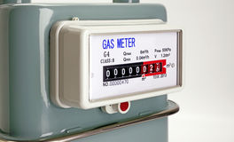 Natural Gas meter close up. Focus on meter royalty free stock images