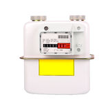 Natural Gas Meter Isolated on white background Stock Photos