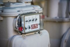 Natural Gas Meter. Residential Natural Gas Meter Object royalty free stock photos
