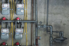Natural Gas Meters Royalty Free Stock Images