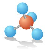Natural gas molecule Royalty Free Stock Photography