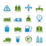 Natural gas objects and icons Stock Images