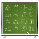 Natural gas objects and icons. Vector icon set Stock Photo