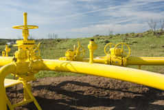 Natural Gas Pipeline. A pipeline for the distribution of natural gas Stock Image