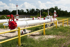 Natural Gas Pipeline. A pipeline for the distribution of natural gas Stock Images