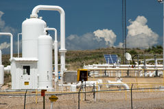 Natural Gas Pipeline. Detail of a pipeline compressor station for the distribution of natural gas Stock Photography