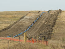 Natural Gas Pipeline. A Natural Gas pipeline being constructed in North Dakota Royalty Free Stock Image