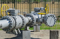 Natural gas pipeline Royalty Free Stock Photos