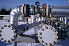 Natural gas pipes Stock Photos