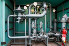 Natural gas pipes Stock Images