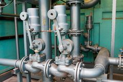 Natural gas pipes Stock Photography