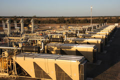 Natural gas plant Stock Images
