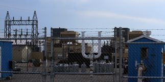 Natural gas plant. Grinnell, Iowa royalty free stock photo