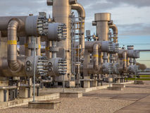 Natural gas plant. Modern natural gas field in the Netherlands royalty free stock photo