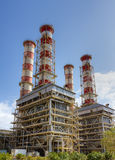 Natural gas power plant Royalty Free Stock Image