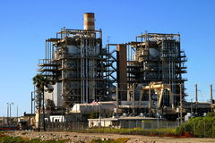 Natural Gas Power Plant Stock Photo