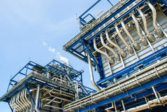 Natural gas power plant Royalty Free Stock Images