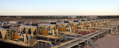 Natural gas processing plant stock image