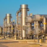 Natural gas processing site Stock Photography