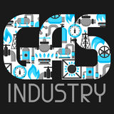 Natural gas production, injection and storage. Industrial background design.  Stock Photography