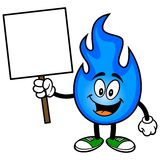 Natural Gas with a Sign. A vector illustration of a natural gas mascot Stock Photo