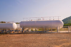 Natural Gas storage tanks in industrial plant Stock Images