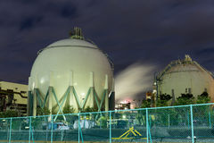 Natural Gas storage tanks Royalty Free Stock Photo